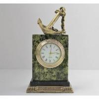 Часы из змеевика Якорь